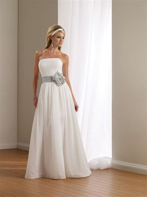 simple country wedding dress  floral accessory