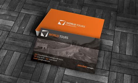 exotic vacation business card template