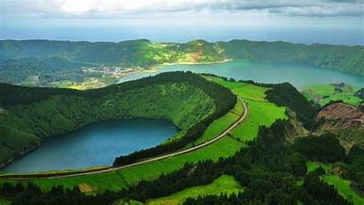 Portugal Nature Landscape Lake Water Aerial