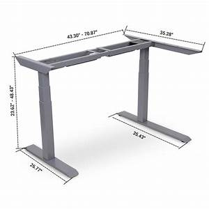 L Shaped Electric Height Adjustable Standing Desk