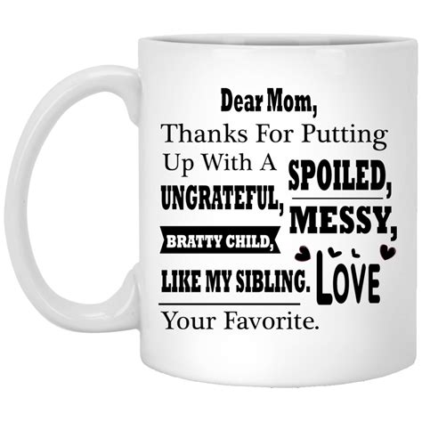 """Funny mom mugs are a key component in my life. """"The Love Between Daughter & Mother Is Forever"""" Coffee Mug - CustomGrace"""