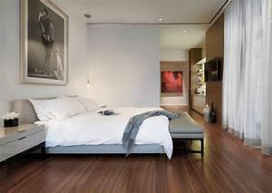 Parquet Flottant Chambre : chambre adulte blanche 80 id es pour votre am nagement ~ Melissatoandfro.com Idées de Décoration