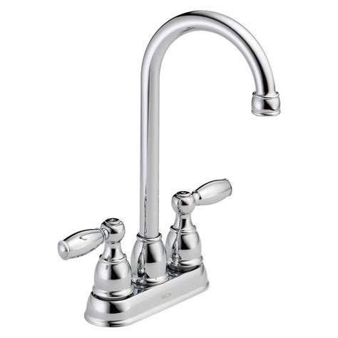 restaurant faucets kitchen delta foundations 2 handle bar faucet in chrome b28911lf