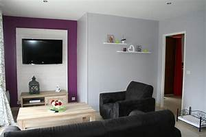 decoration salon prune et gris With awesome couleur moderne pour salon 0 comment associer la couleur aubergine en decoration deco