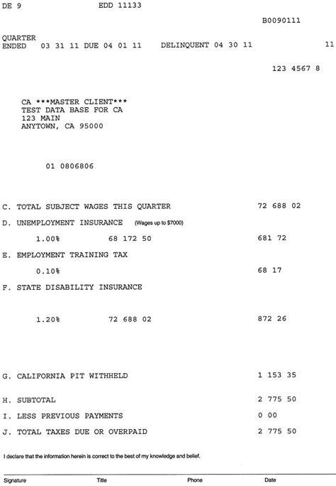 California DE 9 and DE 9C Fileable Reports