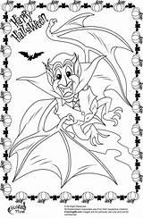 Coloring Halloween Pages Vampire Dracula Bat Colors Fun sketch template