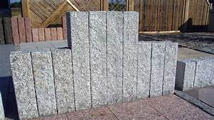 Palisaden Granit Grau 150x12x12 Cm