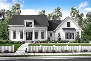 Mid-Size Exclusive Modern Farmhouse Plan - 51766HZ ...