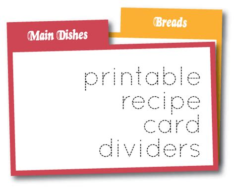 wild olive print recipe card dividers