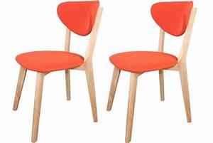 Lot De Chaises Design Pas Cher : lot de 2 chaises scandinaves oranges stol design pas cher sur sofactory d co chaise ~ Melissatoandfro.com Idées de Décoration