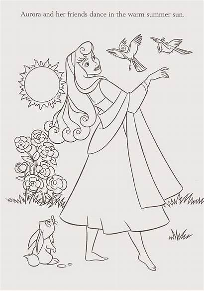 Aurora Coloring Princess Pages Printable Rose Briar