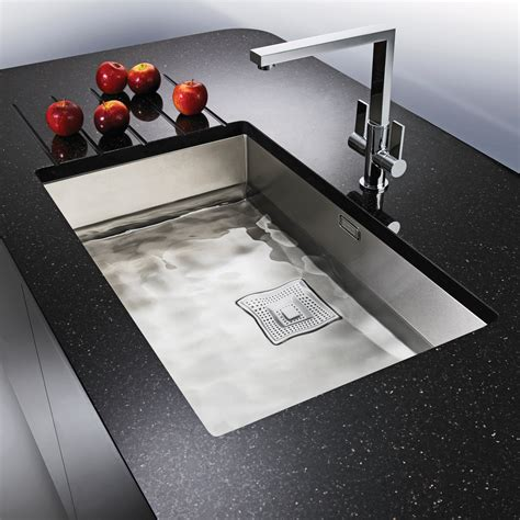 undermount kitchen sinks uk franke peak 1 0 bowl silk stainless steel undermount 6597