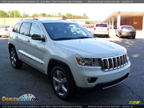beige jeep grand 2011 jeep grand cherokee overland 4x4 stone white dark