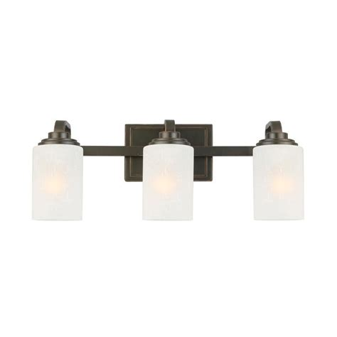 hampton bay  light oil rubbed bronze vanity light