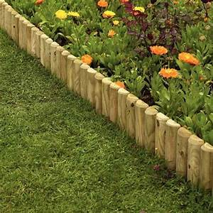 Wooden, 12, U0026quot, Garden, Border, Fence, Edging, 4, Pack