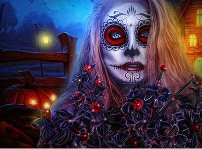 Halloween Scary Backgrounds Wallpapers Witches Pumpkins Ghosts