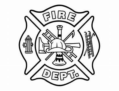 Fire Department Drawing Symbol Cross Coloring Maltese