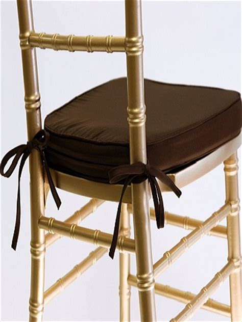 Chocolate Cotton Cushions ? See Chiavari Chairs for