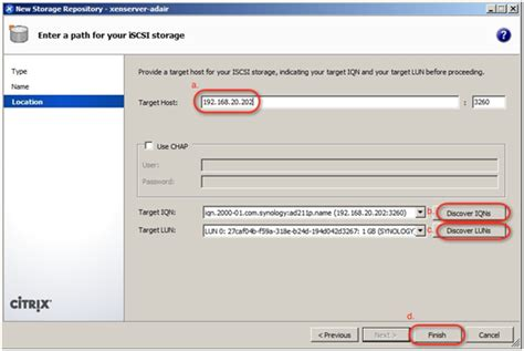 How To Use Iscsi Targets On Citrix Xenserver • H1