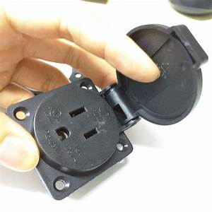 Iec 320 C14 United States 3 Prong Plug Waterproof Ac Power Socket Removable Socket For Us Type B