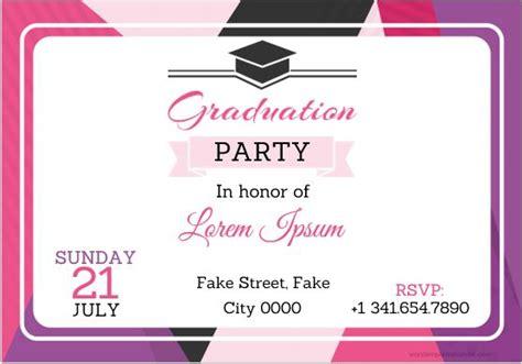 graduation party invitation card templates ms word
