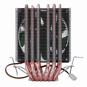 Lanshuo 6 Heat Pipe 3 Wire Without Light Single Fan Cpu