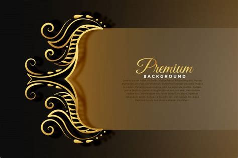 royal invitation background  golden premium