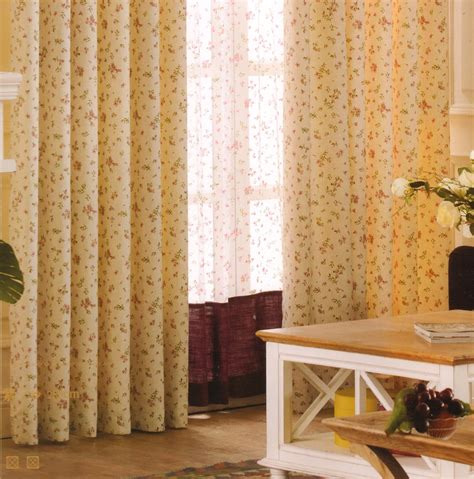 room darkening curtains country light yellow floral jacquard
