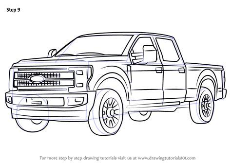 learn   draw ford  trucks step  step drawing tutorials