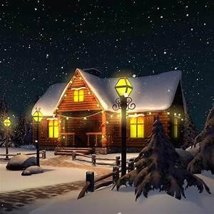 3d complete scene christmas house model