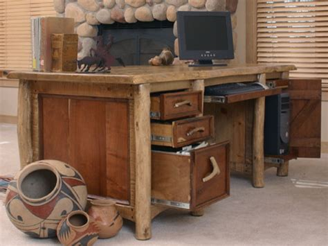 rustic western style furniture rustic desks and