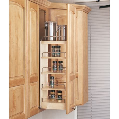cabinet pull out shop rev a shelf 8 in w x 26 25 in 1 tier wood cabinet