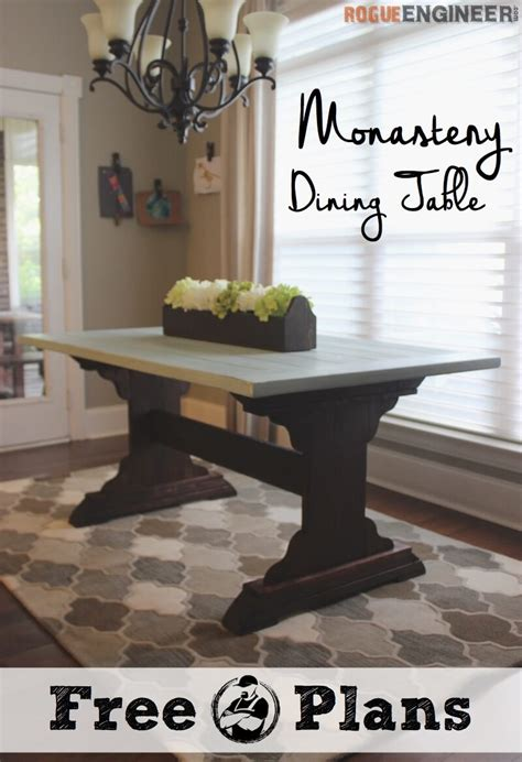 monastery dining table  diy plans rogue engineer