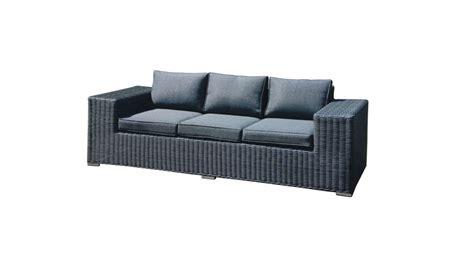 canape d exterieur achetez votre canapé d 39 extérieur en résine tressée gris