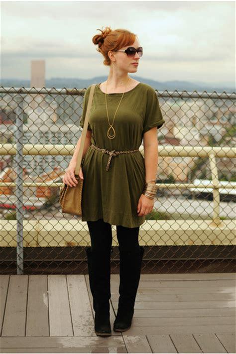 Olive Green Ts Shirt Dress Dresses Black Suede Boots ...