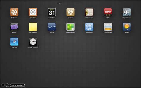 widget le de poche les bases du mac acc 232 s rapide aux informations fr 233 quemment utilis 233 es 224 l aide du dashboard