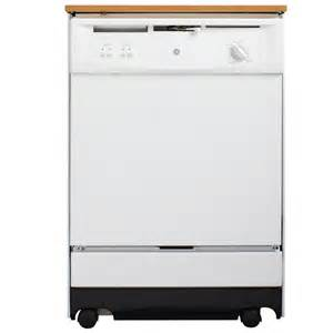 ge convertible portable tall tub dishwasher in white
