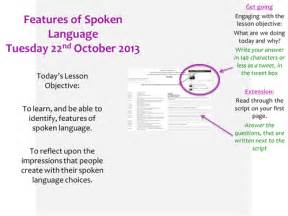 Spoken Language Features Outstanding Lesson by MissRathor ...