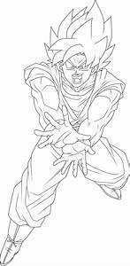 Super Saiyan Blue Goku Lineart By Brusselthesaiyan On
