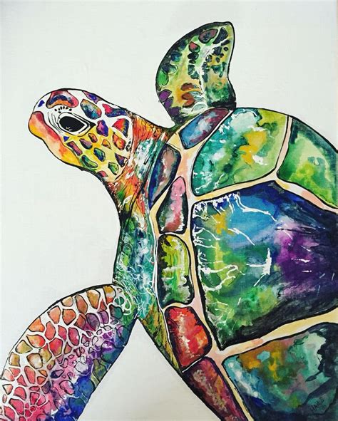 watercolor painting on plexiglass 17 best ideas about sea turtle painting on
