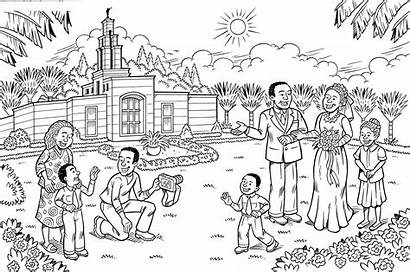 Temple Marriage Coloring Mobile Tablet Lds Primary