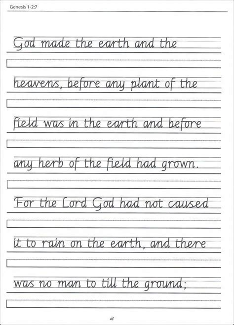 scripture character writing worksheets getty dubay italic