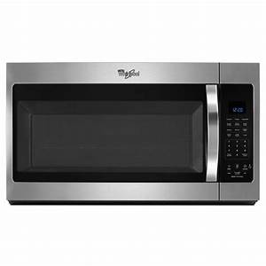 Whirlpool 30 In  W 1 9 Cu  Ft  Over The Range Microwave