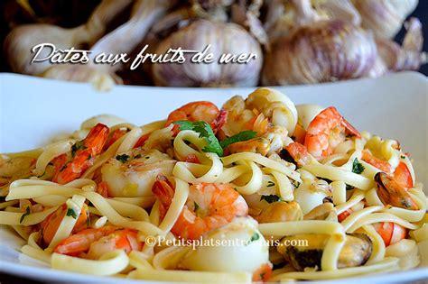 cuisiner des fruits de mer pâtes aux fruits de mer petits plats entre amis