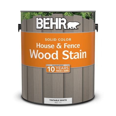 solid color house fence wood stain behr