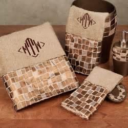 linen mosaic stone cotton bath towel set