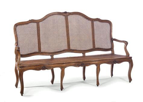 Divano Luigi Xv - divano luigi xv in noce con seduta e schienale in cannet 232