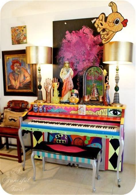 hand painted piano pictures   images