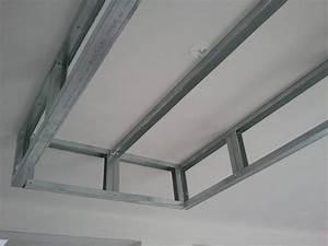 Dimension Plaque De Platre : rail placo plafond chassis suspendu montant r45 m45 ~ Dailycaller-alerts.com Idées de Décoration