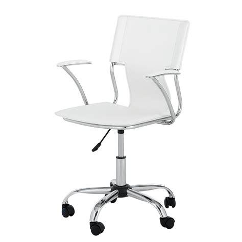 chaise de bureau cuir blanc chaise de bureau pivotante luke imitation cuir blanc